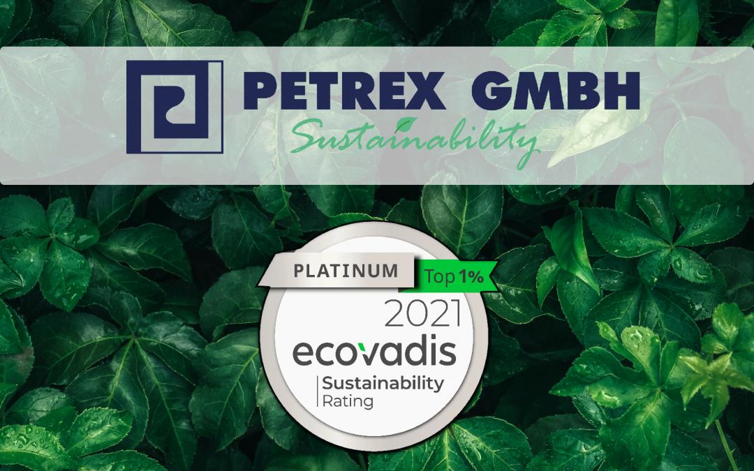 Petrex GmbH reached the EcoVadis platinum status!